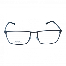 Police Square Frame Matte Brown - INVISIBLE 3 VPL 243 COL. OK03