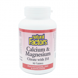 Calcium & Magnesium Citrate with D3 Tablet 90s