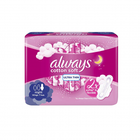 Always Cotton Soft Ultra Thin 2x Softer & Flexible Pad 7s