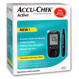 Package of ACCU-CHEK Active New MG/DL Gen 4 Kit 1s  +  Strips 25s