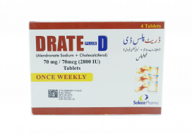 Drate Plus D Tablet 70mg/70mcg 4s