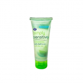 Boots Simply Sensitive Cleansing Jelly Ball Scrub With Aloevera 75ml