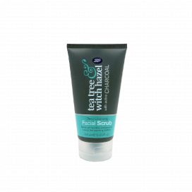 Boots Tea Tree Witch Hazel With Charcoal Facial Scrub 150ml