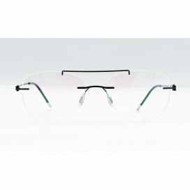 Three Piece Aviator Frame Matte Black - NS6046/N.O