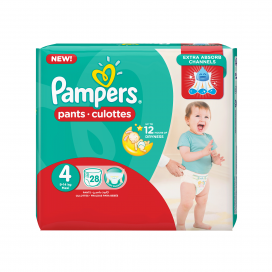 Pampers Pants Maxi Size 4x28s