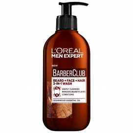 Loreal Paris Men Expert Barber Club Beard, Face & Hair 3 in 1 Wash 200ml