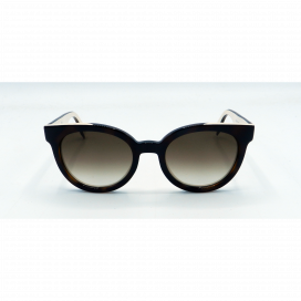 Fendi Round Sun Glasses Two Tone Brown Frame Two Tone Brown Lens - FF 0150/S MIYCC