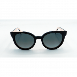 Fendi Round Sun Glasses Black Frame Two Tone Black Lens - FF 0150/S U6WVK