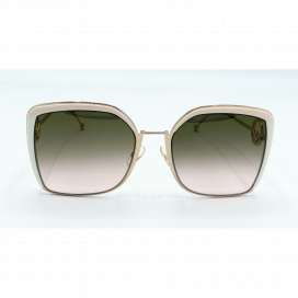 Fendi Square Sun Glasses Pink Frame Two Tone Brown Lens - FF 0294/S 35J53