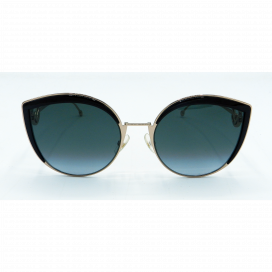 Fendi Cat Eye Sun Glasses Gold Frame Two Tone Gray Lens - FF 0290/S 80790