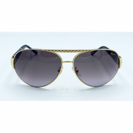 Chopard Aviator Sun Glasses Gold Frame Two Tone Brown Lens - SCH 994 300X