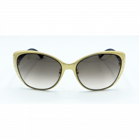 Chopard Cat Eye Sun Glasses Matte Gold Frame Two Tone Brown Lens - SCH 995S 0349