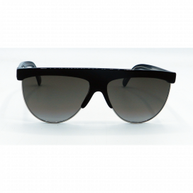 Givenchy Square Sun Glasses Black Frame Two Tone Gray Lens - GV 7118/G/S 010 HA