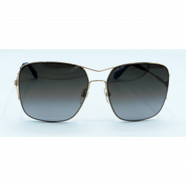 Givenchy Square Sun Glasses Gold Frame Two Tone Gray Lens - GV 7004/S J5GHA