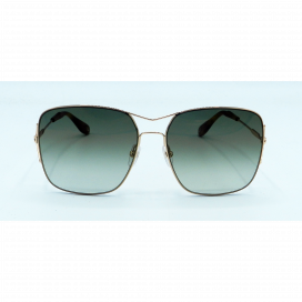 Givenchy Square Sun Glasses Gold Frame Two Tone Green Lens - GV 7004/S DDBCS