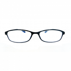 Half Eye Blue Cut Square Eyeglasses 3 Black Frame - TP 175 C1/N.O