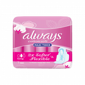 Always Cotton Soft Maxi Thick Long Pad 7s