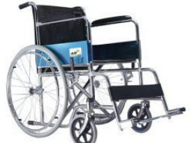 Wheelchair Local With Plastic Fiber Rim Painted (Black)