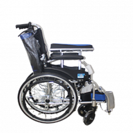 Wheelchair Local With Spoke Wheel Chrome Plated Frame